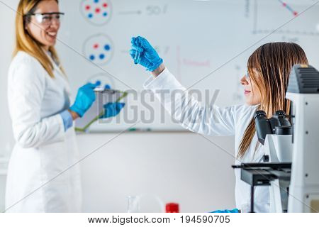 Scientific Research In The Lab, Two People
