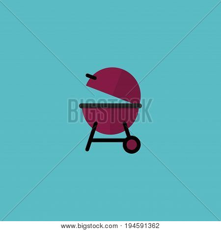 Flat Icon Bbq Element. Vector Illustration Of Flat Icon Barbecue Isolated On Clean Background. Can Be Used As Barbecue, Appetizer And Bbq Symbols.