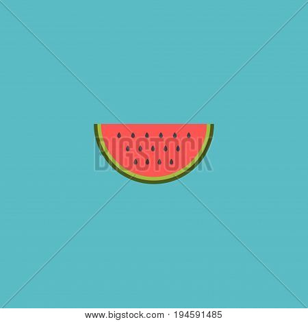 Flat Icon Watermelon Element. Vector Illustration Of Flat Icon Melon Slice Isolated On Clean Background. Can Be Used As Watermelon, Melon And Slice Symbols.