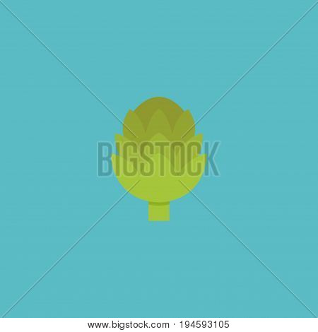 Flat Icon Artichoke Element. Vector Illustration Of Flat Icon Herbaceous Plant Isolated On Clean Background. Can Be Used As Herbaceous, Plant And Artichoke Symbols.