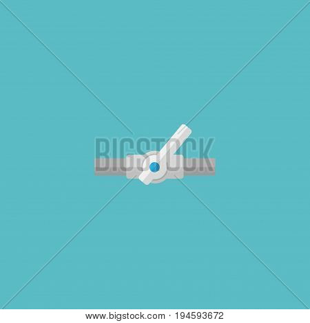 Flat Icon Plumbing Element. Vector Illustration Of Flat Icon Pipeline Valve Isolated On Clean Background. Can Be Used As Plumbing, Pipeline And Valve Symbols.