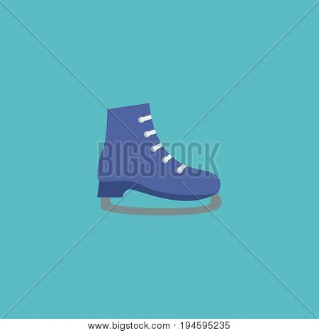 Flat Icon Skates Element. Vector Illustration Of Flat Icon Ice Boot Isolated On Clean Background. Can Be Used As Ice, Boot And Skates Symbols.