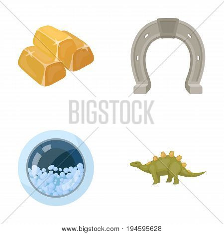 history, business, hygiene and other  icon in cartoon style.prehistoric, herbivore machinery, icons in set collection.