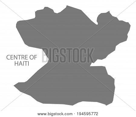 Centre Of Haiti Map Grey Illustration Silhouette