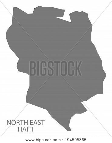 North East Haiti Map Grey Illustration Silhouette