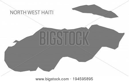 North West Haiti Map Grey Illustration Silhouette