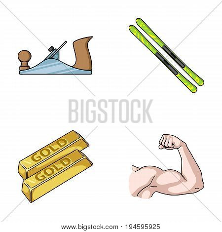 building, finance and other  icon in cartoon style. travel, fitness icons in set collection.