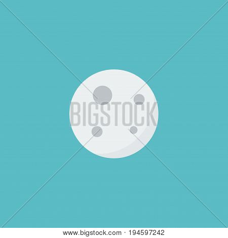 Flat Icon Moon Element. Vector Illustration Of Flat Icon Lunar Isolated On Clean Background. Can Be Used As Moon, Lunar And Satellite Symbols.