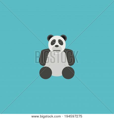 Flat Icon Panda Element. Vector Illustration Of Flat Icon Bear Isolated On Clean Background. Can Be Used As Panda, Bear And Animal Symbols.