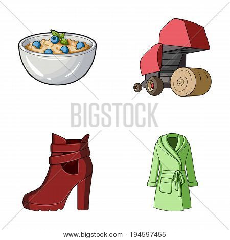 catering, Business, trade and other  icon in cartoon style.clothing, knitwear, food, icons in set collection