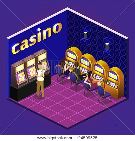 Men And Women Play Slot Machines In Casinos