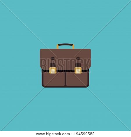 Flat Icon Case Element. Vector Illustration Of Flat Icon Portfolio Isolated On Clean Background. Can Be Used As Case, Portfolio And Suitcase Symbols.