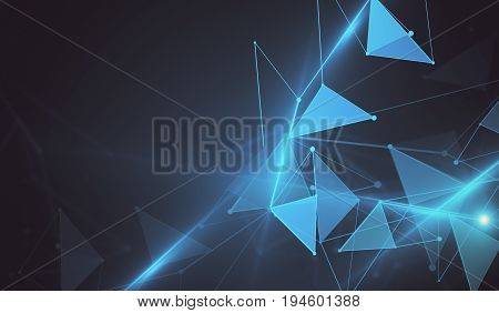 Blue Polygonal Wallpaper