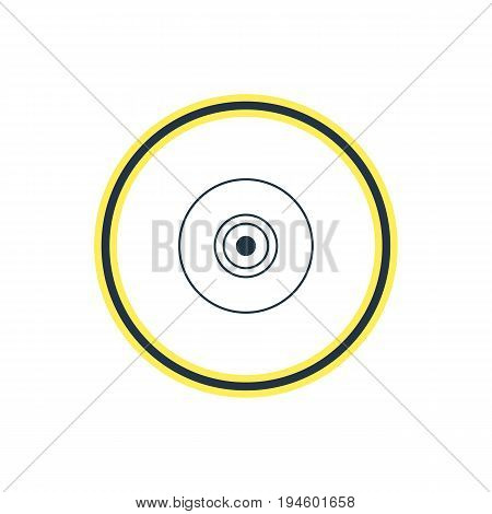 Vector Illustration Of Camera Lens Outline. Beautiful Notebook Element Also Can Be Used As Objective Element.