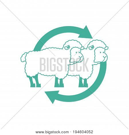 Cloning Sheep sign. Laboratory research icon. Vector illustration