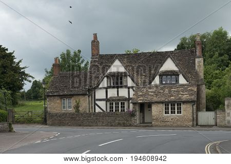 Medieval house in the village of lacock in the cotswold england