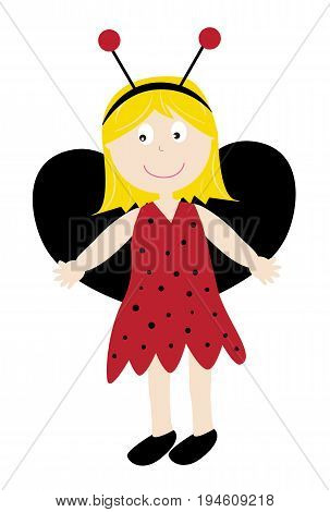 Festive Happy Halloween Holiday Ladybug Girl Costume