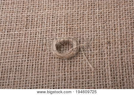 Roll Of Brown Color Linen String