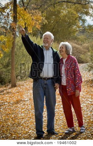 Retired Couple Togetherness