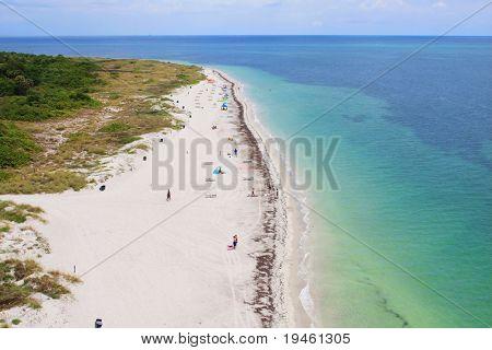 Aerial view of a beautiful Florida Beach