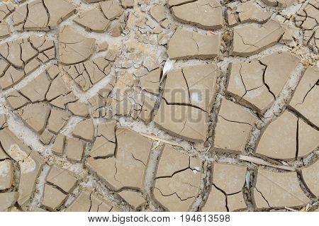 Barren Earth. Dry Cracked Earth Background. Cracked Mud Pattern. Soil In Cracks.drought Land. Enviro