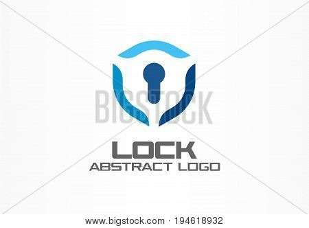 Abstract logo for business company. Corporate identity design element. Guard, shield lock, secure agency logotype idea. concept. real estate insurance, protection, security concept. Color Vector icon