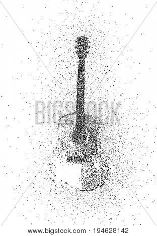 guitar of particles design