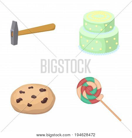 cooking, building, business and other  icon in cartoon style.wand, dessert, goodies, icons in set collection.