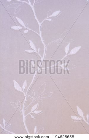 Textured Background With A Vegetative Pattern In The Form Of A Branch With Leaves.
