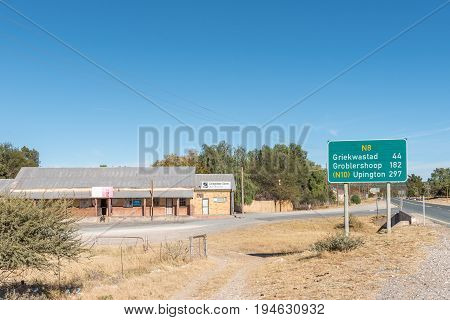 CAMPBELL SOUTH AFRICA - JUNE 11 2017: A supermarket in Campbell a small village in the Northern Cape Province