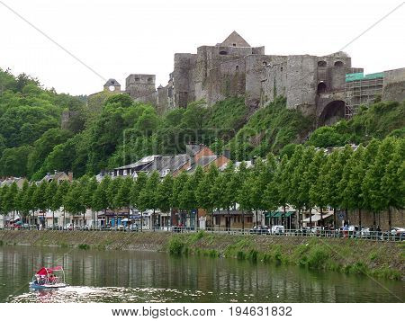 Medieval Fortress of Bouillon on the Hilltop of Bouillon, province of Luxembourg in Belgium