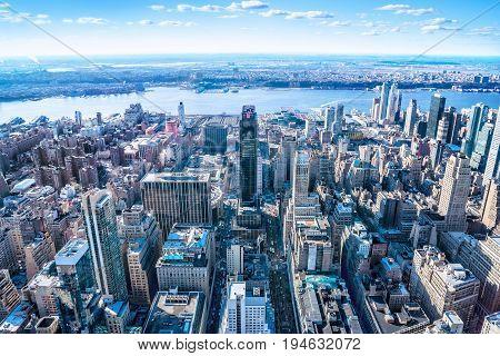 panoramic view at manhattan, new york city