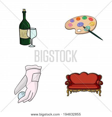 alcohol, sport and other  icon in cartoon style.art, furniture icons in set collection.