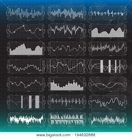 futuristic equalizer waves for the HUD interfaces. Abstract virtual graphic