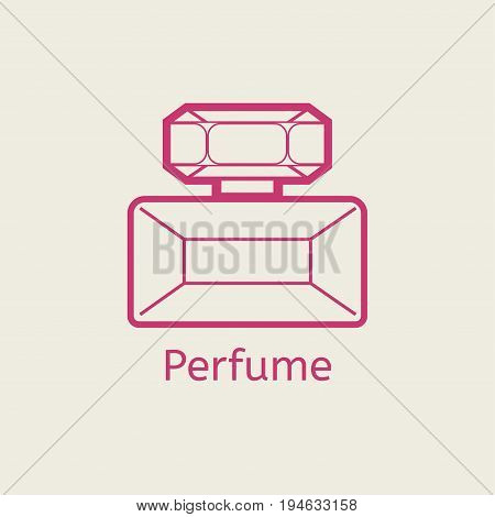 Aroma perfume line icon. Thin linear parfume signs for makeup and visage. Cosmetic product of glamour fashion design icon.