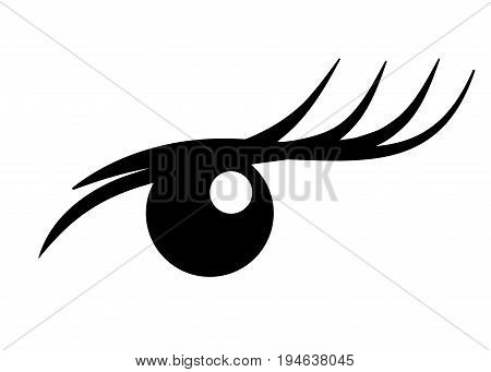 Logo Eyelash extension. A beautiful make-up. Mascara for volume and length. logotype eye