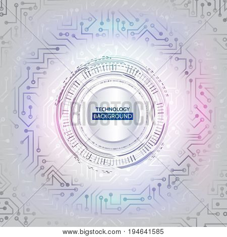Abstract technology circuit background. Hi-tech digital computer concept. Futuristic vector illustration. esp 10