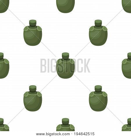 Jar with water in the case.African safari single icon in cartoon style vector symbol stock illustration .