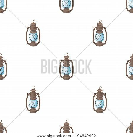 Portable kerosene lamp.African safari single icon in cartoon style vector symbol stock illustration .