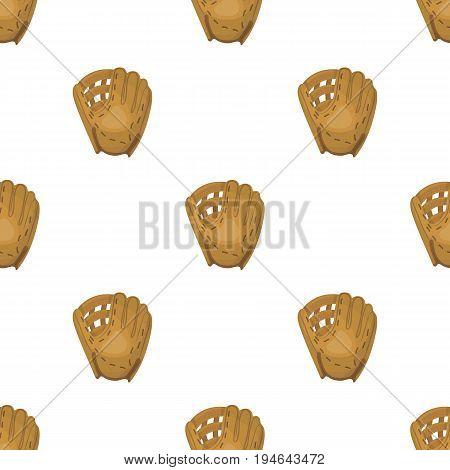 Glove trap. Baseball single icon in cartoon style vector symbol stock illustration .