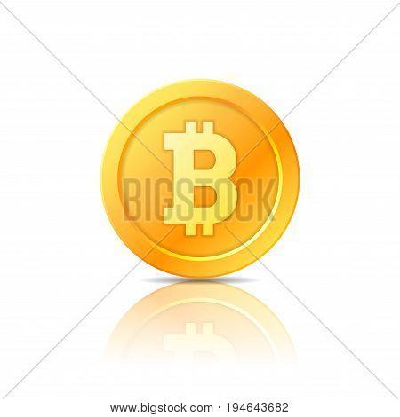 Bitcoin vector symbol, icon, sign coin emblem