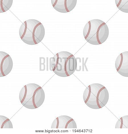 Ball for baseball. Baseball single icon in cartoon style vector symbol stock illustration .