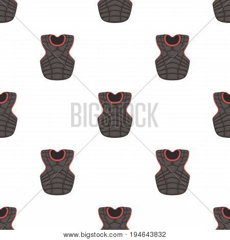 Vest baseball. Baseball single icon in cartoon style vector symbol stock illustration .