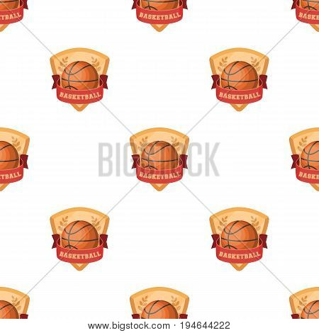 Basketball emblem.Basketball pattern icon in cartoon style vector symbol stock illustration .