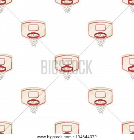 Shield with basket.Basketball pattern icon in cartoon style vector symbol stock illustration .