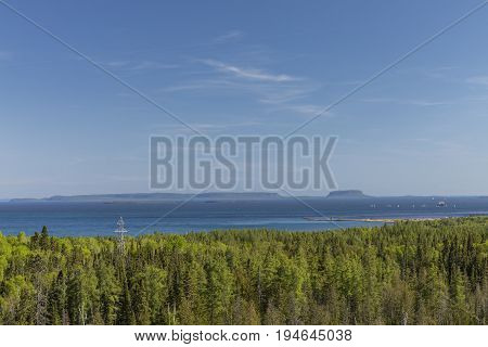 Thunder Bay Lake Superior - A scenic view.