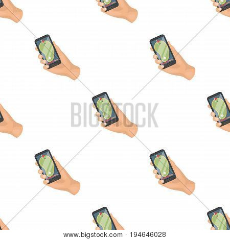 Navigator in the golf course phone.Golf club single icon in cartoon style vector symbol stock illustration .