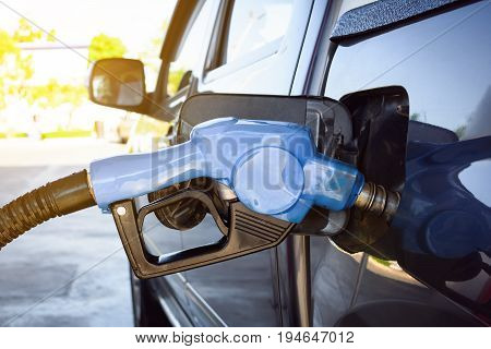 Refuel Car At Petrol Pump