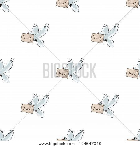 Post pigeon.Mail and postman pattern icon in cartoon style vector symbol stock illustration .