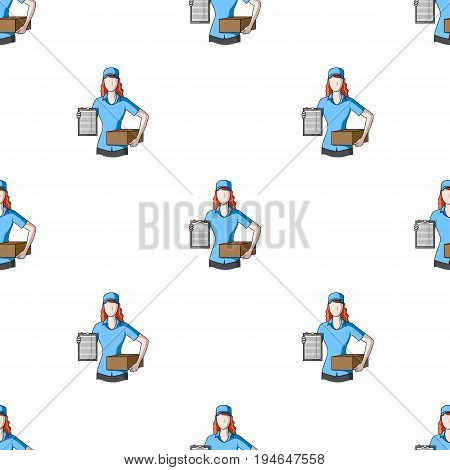 Postal courier.Mail and postman pattern icon in cartoon style vector symbol stock illustration .